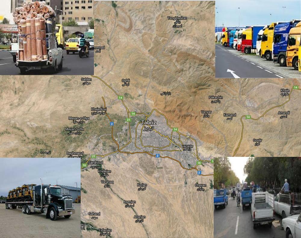 مطالعات ساماندهی حمل و نقل بار و کالای درونشهری شهر تبریز