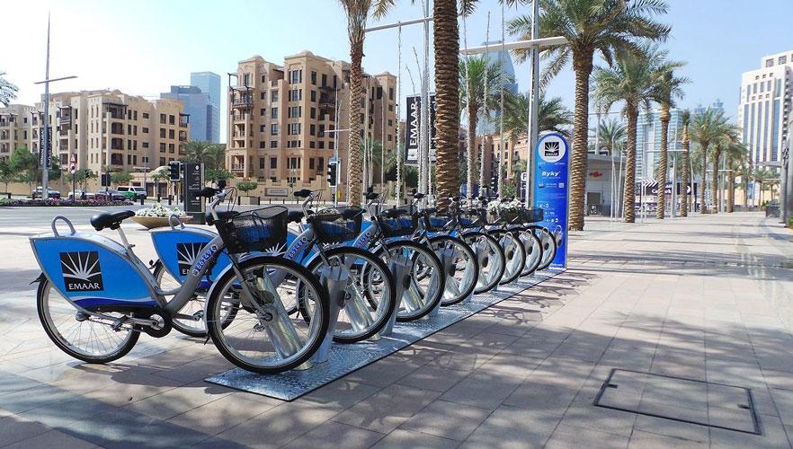 ايستگاه هاي مترو در دبي ملزم به اجراي پارکینگ دوچرخه