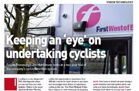 نصب چشم الکترونیکی روی اتوبوس  های شهری برای افزایش ایمنی دوچرخه سواران
