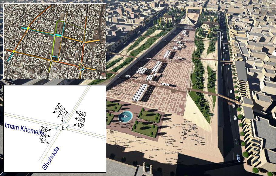 مطالعات ترافیکی پروژه بزرگ سبزه میدان زنجان